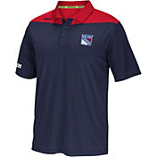 Reebok Men's New York Rangers Center Ice Statement Navy/Red Polo