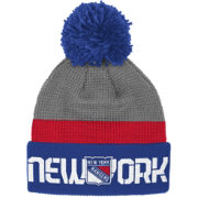 Reebok Men's New York Rangers Center Ice Cuffed Pom Knit Hat
