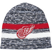 Mitchell & Ness Men's Detroit Red Wings Static Stripe Grey Beanie