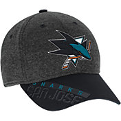 Reebok Men's San Jose Sharks Heather Grey Center Ice Playoff Flex Hat