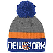 Reebok Men's New York Islanders Center Ice Cuffed Pom Knit Hat