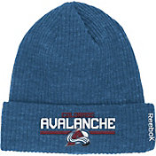 Reebok Men's Colorado Avalanche Center Ice Cuffed Knit Hat