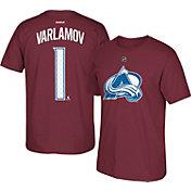 Reebok Men's Colorado Avalanche Semyon Varlamov #1 Home Player T-Shirt