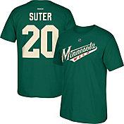 Reebok Men's Minnesota Wild Ryan Suter #20 Replica Green Player T-Shirt