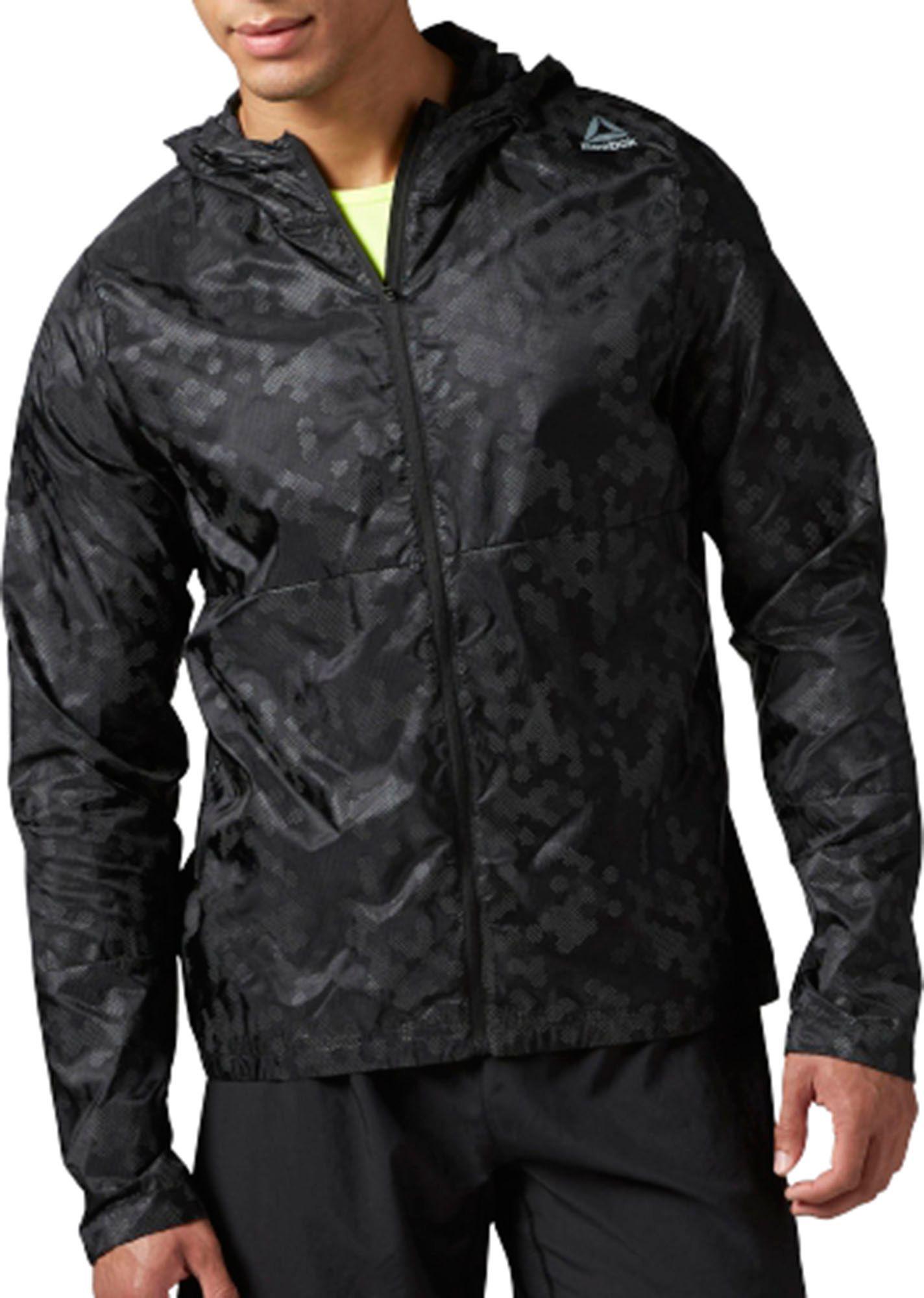 reebok jacket. reebok men\u0027s running windbreaker jacket r