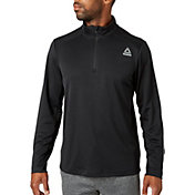 Reebok Men's Quarter Zip Training Long Sleeve Shirt