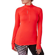 Reebok Women's Cold Weather Quarter Zip Long Sleeve Shirt