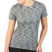 Reebok Women's Plus Size Mélange Crewneck Vector T-Shirt