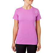Reebok Women's Heather Crewneck Jersey T-Shirt