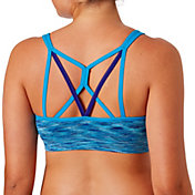Reebok Women's Melange Spacedye Crossback Sports Bra