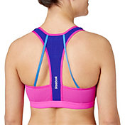 Reebok Women's Medium Support Strappy Back Sports Bra
