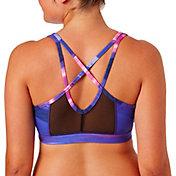 Reebok Women's Mesh Back Strappy Printed Sports Bra
