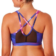 Reebok Women's Mesh Back Strappy Printed Sports Bra