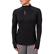 Reebok Women's Plus Size Cold Weather Quarter Zip Long Sleeve Shirt