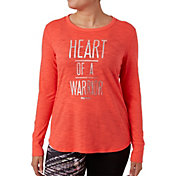 Reebok Women's Plus Size Warrior Graphic Long Sleeve Shirt