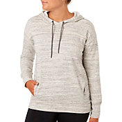 Reebok Women's Plus Size Melange Brushed Fleece Hoodie