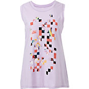 Reebok Women's Plus Size Blocks Graphic Muscle Tank Top