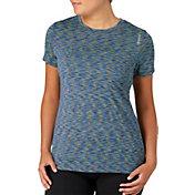 Reebok Women's Plus Size Space Dye Crewneck Vector T-Shirt