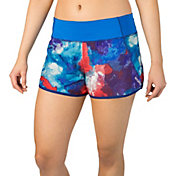 Reebok Women's Plus Size Printed Running Shorts