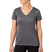 Reebok Women's Plus Size Heather Performance V-Neck T-Shirt
