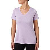Reebok Women's Plus Size Heather Performance V-Neck T-Shirt