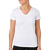 Reebok Women's Plus Size Solid Performance V-Neck T-Shirt