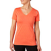 Reebok Women's Plus Size V-Neck Blip Melange Performance T-Shirt