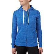 Reebok Women's Plus Size Jersey Full Zip Hoodie