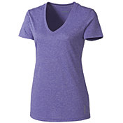 Reebok Women's Heather V-Neck Vector T-Shirt