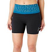 Reebok Women's Printed High Waist Stretch Cotton 5'' Shorts