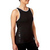 Reebok Women's Rib Trim Fit Is The New Black Graphic Tank Top