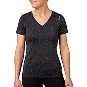 Reebok Women's V-Neck Blip Melange Performance T-Shirt