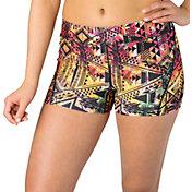 "Reebok Women's 3"" Printed Compression Shorts"