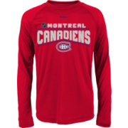 Reebok Youth Montreal Canadiens Center Ice TNT Grey Performance Long Sleeve T-Shirt
