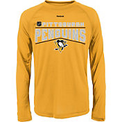 Reebok Youth Pittsburgh Penguins Center Ice TNT Grey Performance Long Sleeve T-Shirt