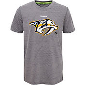 Reebok Youth Nashville Predators Center Ice TNT Grey Performance T-Shirt