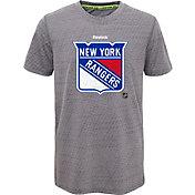 Reebok Youth New York Rangers Center Ice TNT Grey Performance T-Shirt
