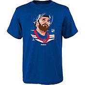 Reebok Youth New York Rangers Henrik Lundqvist #30 Portrait Royal T-Shirt