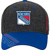 Reebok Youth New York Rangers Heather Grey Center Ice Playoff Flex Hat