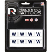 Rico Chicago Cubs W Win Peel and Stick Tattoo Set
