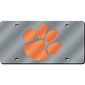 Rico Clemson Tigers Silver Laser Tag License Plate