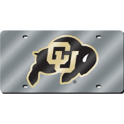 Rico Colorado Buffaloes Silver Laser Tag License Plate