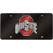 Rico Ohio State Buckeyes Black Base Laser Tag License Plate