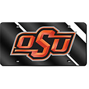 Rico Oklahoma State Cowboys Black Laser Tag License Plate
