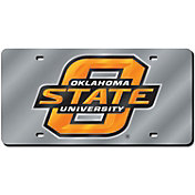 Rico Oklahoma State Cowboys Silver Laser Tag License Plate