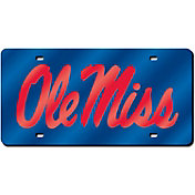 Rico Ole Miss Rebels Blue Laser Tag License Plate