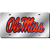 Rico Ole Miss Rebels Silver Laser Tag License Plate
