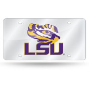 Rico LSU Tigers Silver Laser Tag License Plate