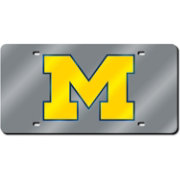 Rico Michigan Wolverines Silver Laser Tag License Plate