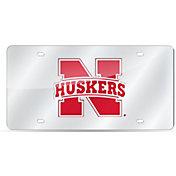 Rico Nebraska Cornhuskers Silver Laser Tag License Plate
